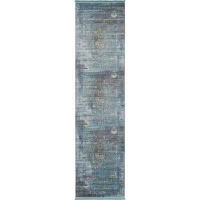 Lonerock Gray/Teal Area Rug Rug Size: Runner 27 x 10