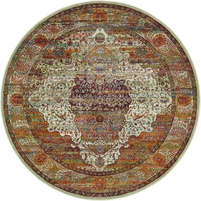 Lonerock Orange Area Rug Rug Size: Round 55