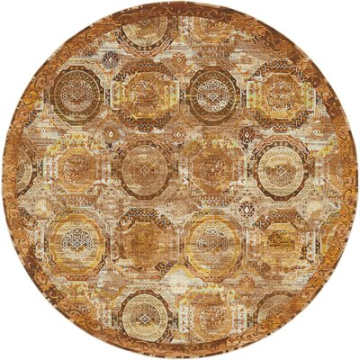 San Marcos Brown Area Rug Rug Size: Round 84