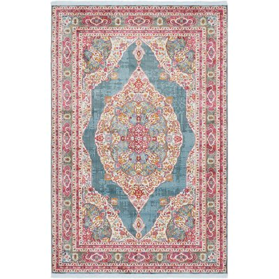 Lonerock Turquoise/Pink Area Rug Rug Size: Rectangle 55 x 8