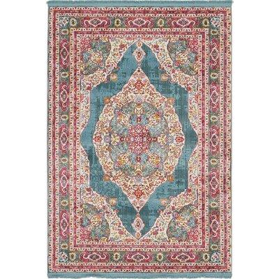 Lonerock Turquoise/Pink Area Rug Rug Size: Rectangle 43 x 6