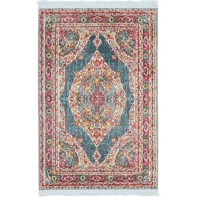 Lonerock Turquoise/Pink Area Rug Rug Size: Rectangle 22 x 3