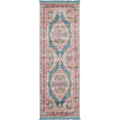 Lonerock Turquoise/Pink Area Rug Rug Size: Runner 22 x 6
