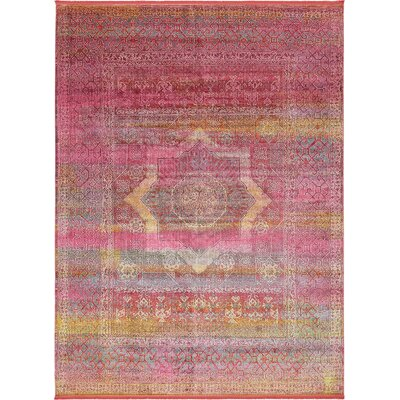 Regina Pink Area Rug Rug Size: Rectangle 10 x 13