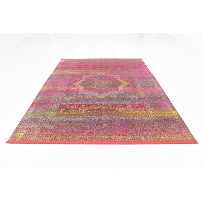 Regina Pink Area Rug Rug Size: Rectangle 84 x 10