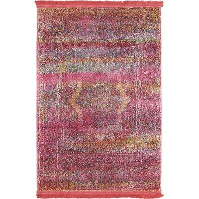Regina Pink Area Rug Rug Size: Rectangle 22 x 3