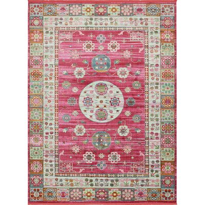 Lonerock Pink Area Rug Rug Size: Rectangle 10 x 13