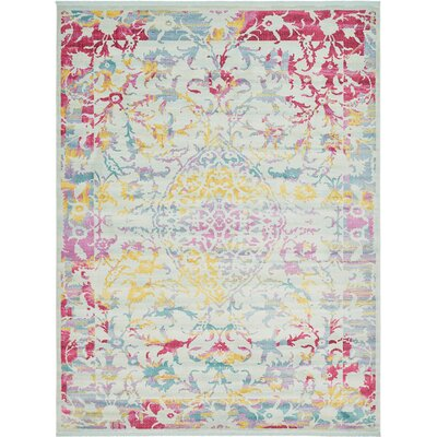 Lonerock European Blue/Pink Area Rug Rug Size: Rectangle 55 x 8