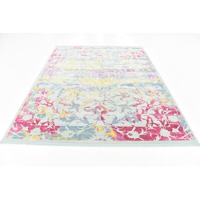 Lonerock European Blue/Pink Area Rug Rug Size: Rectangle 84 x 10