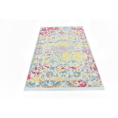 Lonerock European Blue/Pink Area Rug Rug Size: Rectangle 43 x 6