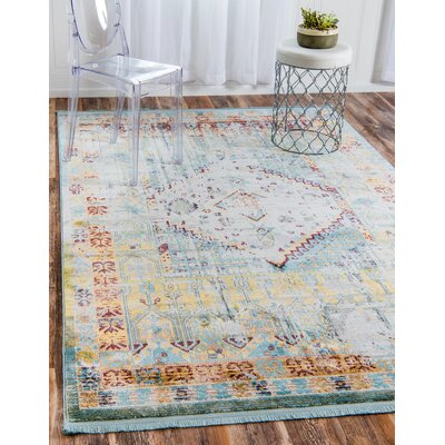 Lonerock Light Blue Area Rug Rug Size: Rectangle 22 x 3