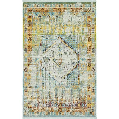 Lonerock Light Blue Area Rug Rug Size: Rectangle 55 x 8
