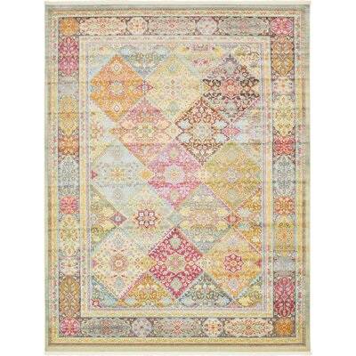 Regina Pink/Olive Area Rug Rug Size: Rectangle 10 x 13