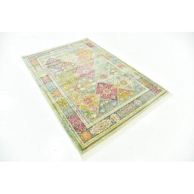 Regina Pink/Olive Area Rug Rug Size: Rectangle 43 x 6
