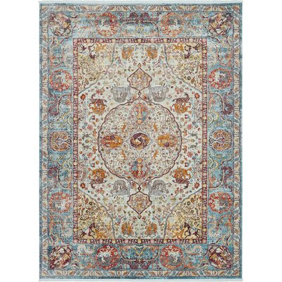Lonerock Aqua/Yellow Area Rug Rug Size: Rectangle 22 x 3