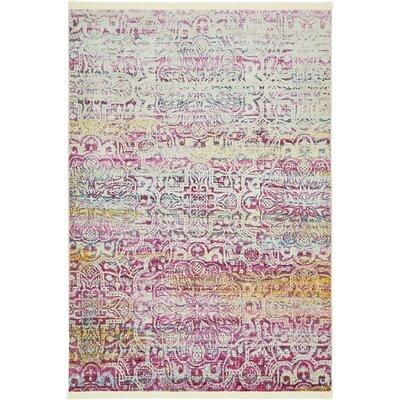 Regina Pink Area Rug Rug Size: Rectangle 43 x 6