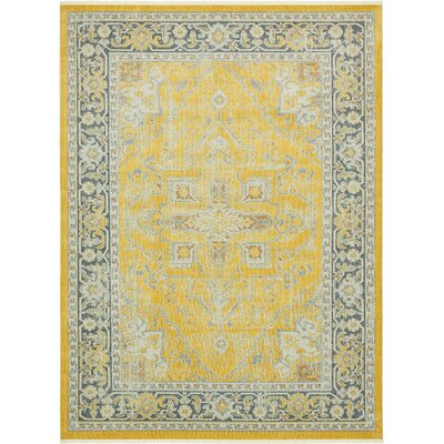 Lonerock Yellow Area Rug Rug Size: Rectangle 10 x 13