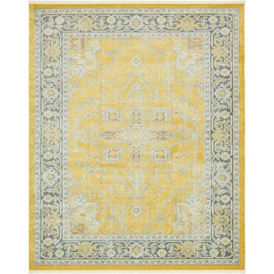 Lonerock Yellow Area Rug Rug Size: Rectangle 84 x 10