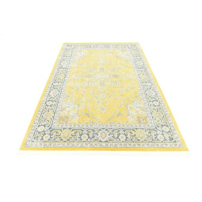 Lonerock Yellow Area Rug Rug Size: Rectangle 55 x 8
