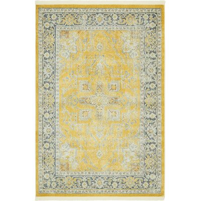 Lonerock Yellow Area Rug Rug Size: Rectangle 43 x 6
