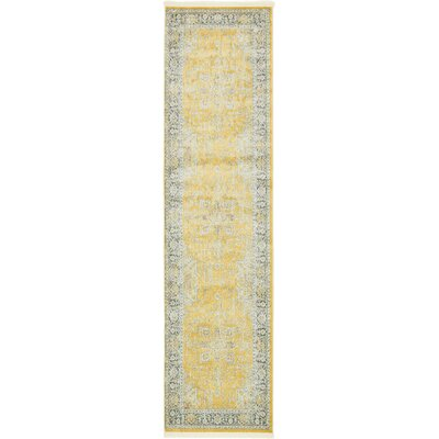 Lonerock Yellow Area Rug Rug Size: Runner 27 x 10