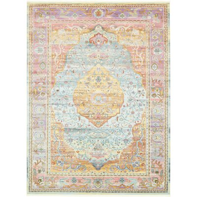 Lonerock Aqua/Pink Area Rug Rug Size: Rectangle 10 x 13