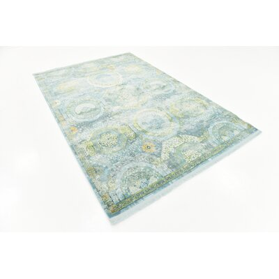 Lonerock Green/Light Blue Area Rug Rug Size: Rectangle 55 x 8