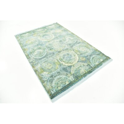 Lonerock Green/Light Blue Area Rug Rug Size: Rectangle 43 x 6