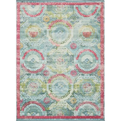 Lonerock Turquoise/Pink Area Rug Rug Size: Rectangle 43 x 6
