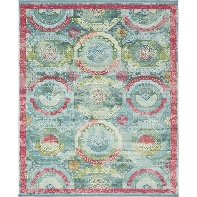Lonerock Turquoise/Pink Area Rug Rug Size: Rectangle 84 x 10