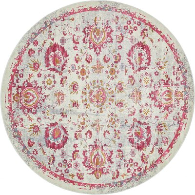 Lonerock Smooth European Pink Area Rug Rug Size: Round 84