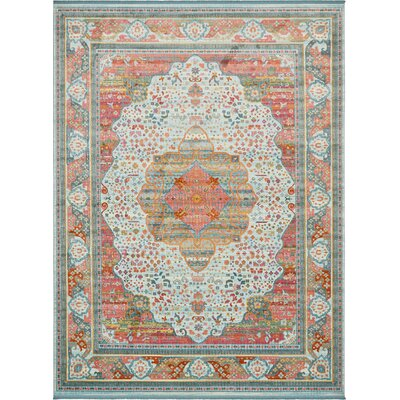 Lonerock European Light Blue Area Rug Rug Size: Rectangle 10 x 13