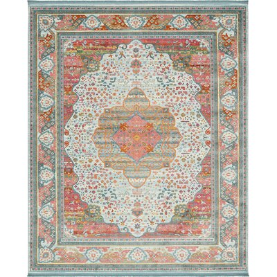 Lonerock European Light Blue Area Rug Rug Size: Rectangle 84 x 10