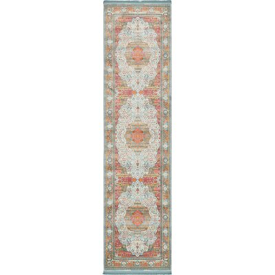 Lonerock European Light Blue Area Rug Rug Size: Runner 27 x 10