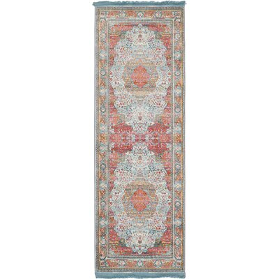 Lonerock European Light Blue Area Rug Rug Size: Runner 22 x 6
