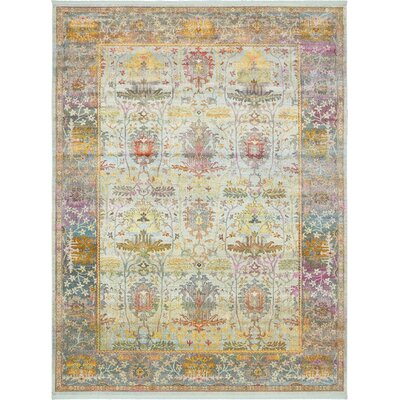 Regina Green/Yellow Area Rug Rug Size: Rectangle 10 x 13