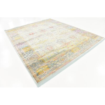 Regina Green/Yellow Area Rug Rug Size: Rectangle 84 x 10