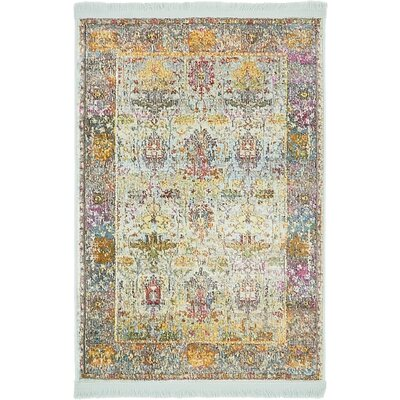 Regina Green/Yellow Area Rug Rug Size: Rectangle 22 x 3