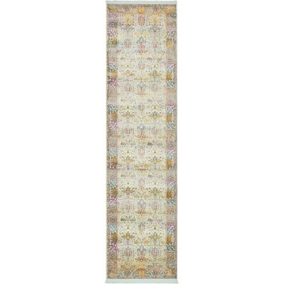 Regina Green/Yellow Area Rug Rug Size: Runner 27 x 10