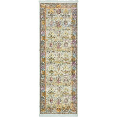 Regina Green/Yellow Area Rug Rug Size: Runner 22 x 6