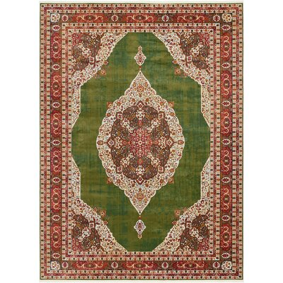 Lonerock Green/Red Area Rug Rug Size: Rectangle 10 x 13