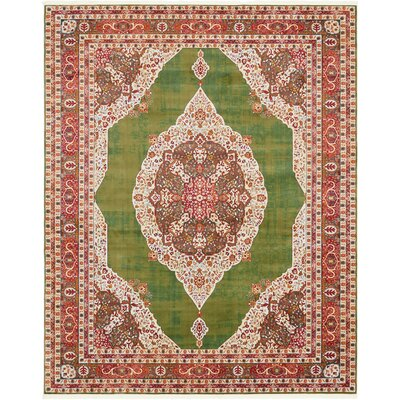 Lonerock Green/Red Area Rug Rug Size: Rectangle 84 x 10