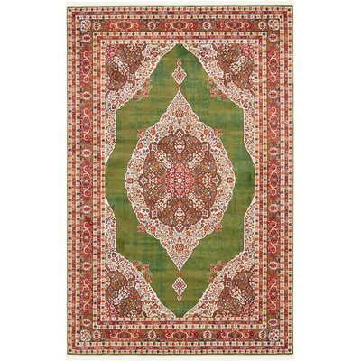 Lonerock Green/Red Area Rug Rug Size: Rectangle 55 x 8