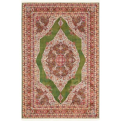 Lonerock Green/Red Area Rug Rug Size: Rectangle 43 x 6