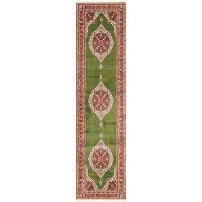 Lonerock Green/Red Area Rug Rug Size: Runner 27 x 10