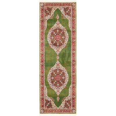 Lonerock Green/Red Area Rug Rug Size: Runner 22 x 6