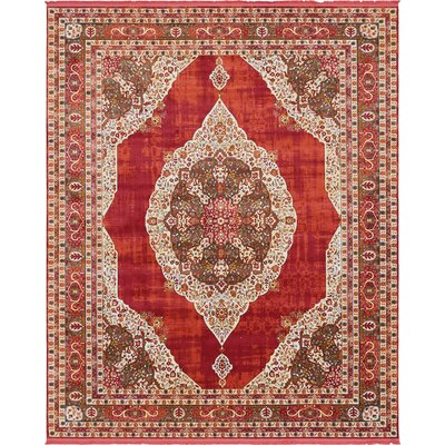 Lonerock Red Area Rug Rug Size: Rectangle 84 x 10