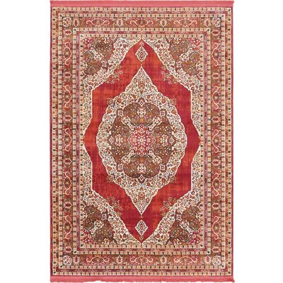 Lonerock Red Area Rug Rug Size: Rectangle 43 x 6