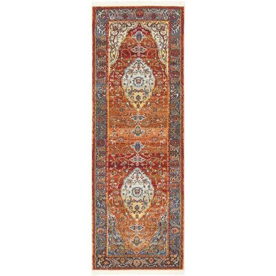 San Marcos Rust Red Area Rug Rug Size: Runner 22 x 6