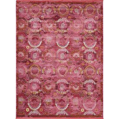 Lonerock Pink Area Rug Rug Size: Rectangle 10 x 13